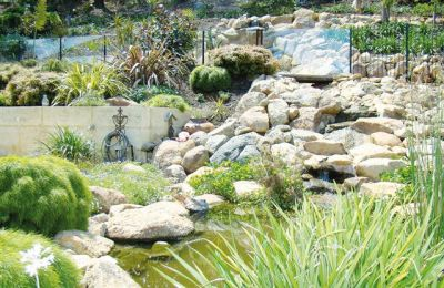 Waterfall and rockery landscaping Kelmscott