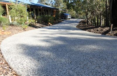 Brushed Pebble Concrete Driveway