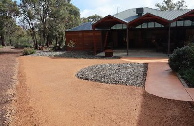 Gravel and Concrete Pathway